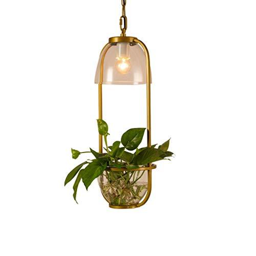 Lámparas de planta en maceta de estilo nórdico creativo, pastoral americana, pintura...