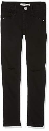 NAME IT Mädchen Jeans NKFPOLLY DNMSUS Soft 7156 Pant NOOS, Schwarz Black Denim, 140