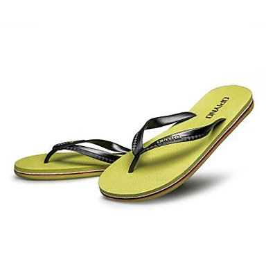 Slippers & amp da uomo;Casual Primavera Comfort Light suole di gomma, sandali verde dell'esercito sandali Yellow