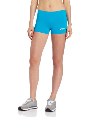 Asics Volleyball Spandex (ASICS Damen Women's Low Cut Performance Shorts, Blau - Atomic Blue, X-Large)