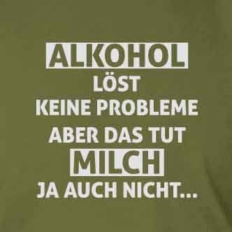 Alkohol löst keine Probleme - Stofftasche / Beutel Rot