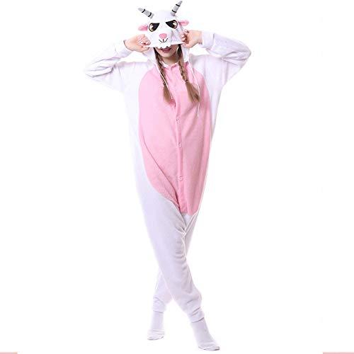 Paare Tun Kostüm Sich Es - BERTHACC Unisex Erwachsene Tier Pyjama Siamesischer Pyjama Pink Langarm-Schlafanzug Für Paare Karikaturpyjamas Rollenspiel Kostüm Tierpyjamas Overall Weihnachten,Rosa,M