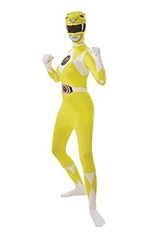 Mighty Morphin Power Rangers Yellow Ranger - Adult 2nd Skin Costume Lady : MEDIUM