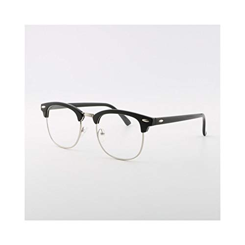 Sport-Sonnenbrillen, Vintage Sonnenbrillen, Men UV400 Sunglasses Men Women Luxury Vintage Semi-Rimless Fashion Mirror Shades For Female Rays Sun Glasses black silver clear