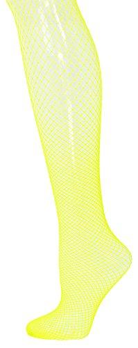 Das Kostümland Netzstrumpfhose XL für Herren - Neon Gelb
