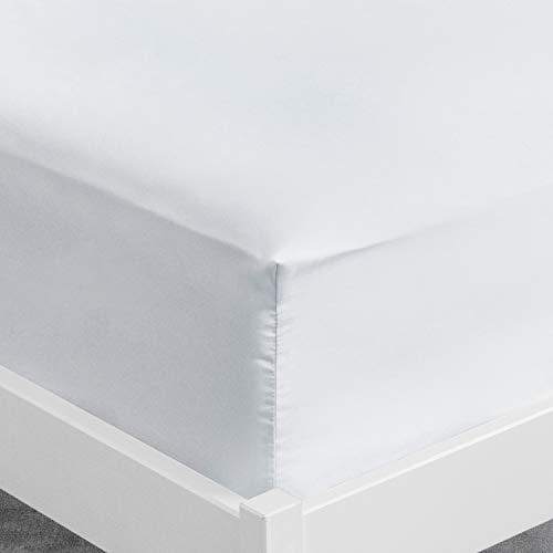 ViscoSoft   Drap Housse Microfibre Blanc 140x190 x 30 cm   Drap Grand Bonnet 30 cm Matelas Epais   Housse Ajustable   Tissu Doux sans Plis - Drap Housse pour Matelas 140x190 Garantie 3 Ans