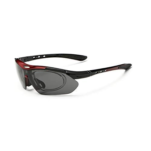 Sonnenbrillen Polarisierte Männer Frauen Unisex UV-Schutz Fliegerbrille Coole Brille Sonnenbrille Herren Clip Sunglasses Verspiegelt Outdoor Reiten Sport Fahren Tourismus Rote Rahmen Grau Linse