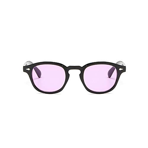 LKSDD Marine Stück Sonnenbrille Vintage Runde Sonnenbrille,brightblackpurple
