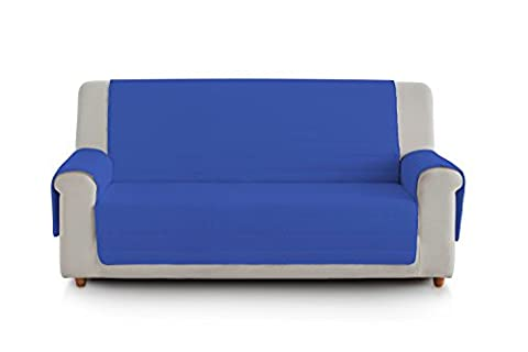 Eiffel textile fsa0023Housse de Clic Clac Matelassée 4places, coton, bleu et turquoise, 190x 195x 2cm