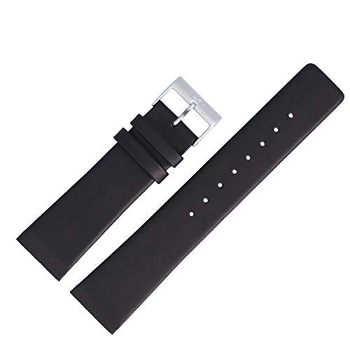 Skagen Uhrenarmband 22mm Leder Schwarz Glattleder XL - Uhrband 233XXLSLB / 233XXL