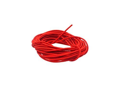 Creative-Beads - Gummischnur, ca. 0,8mm dick, Zuschnitt 3,00m, rot zum Perlen fädeln von, basteln Armbänder und Schmuck selber machen nähen Handarbeit Deko