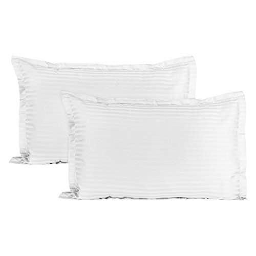 Story@Home Luxurious Striped 2 Piece Sateen Pillow Cover Set - 18
