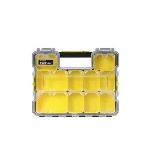Stanley FatMax Werkzeug-Profi-Organizer (44,6 x 7,4 x 35,7 cm, Organizer mit herausnehmbaren Boxen und Metallschließen, wasserdicht, stabiler Koffer mit flachen Fächern) 1-97-517