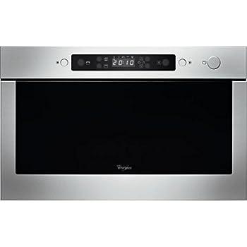 Whirlpool AMW 439/ix intégré 22L 750W Noir, Acier inoxydable–Micro-onde (intégré, 22L, 750W, boutons, noir, acier inoxydable, 700W)