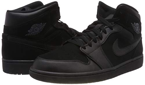 Nike Men''s Air Jordan 1 Mid Basketball Shoes, Black (Black/Dark Grey/Black 050), 10 UK 10 UK Img 4 Zoom