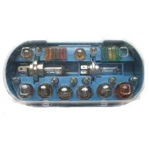 30-teiliges Birnen- / Leuchtmittel-Set, universell nutzbar, verschiedene Leuchtmittel mit Sicherungen, H4, 12 V, 60 / 55 W
