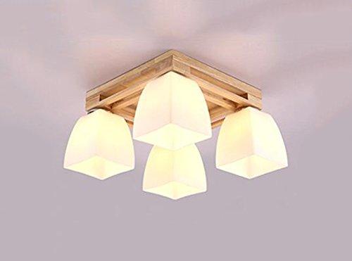 White Milk Glass (BOBE SHOP- Nordic Fashion Einfache Massivholzleuchte Deckenleuchte Deckenleuchte für Schlafzimmer, Küche, Wohnzimmer, Korridor, Balkon ( Farbe : Milk white glass lampshade ))