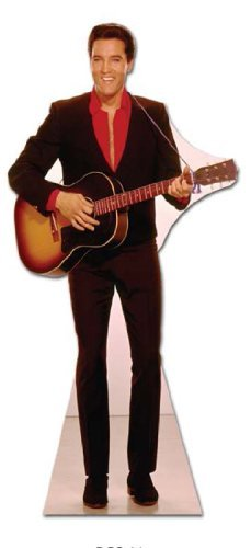 Elvis Presley - Lifesize Cut-Out Guitar hanging from neck by Elvis Presley