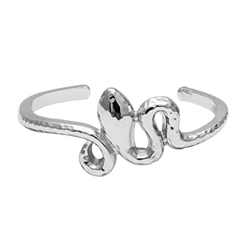 jieGREAT ❄ Damenschmuck ❄ ,Einfache Frauen dreidimensionale Persönlichkeit Serpentin geometrische Öffnung Armband