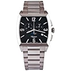 Men's Watch rectangular chronograph wrist watch with leather strap ALTANUS 7917-N