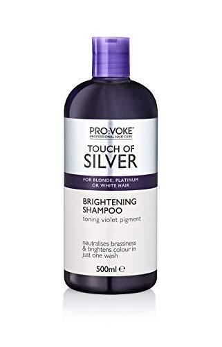 Provoke Pro: Voke Touch of Silver Aufhellendes Shampoo für blondes/platinisches/weißes oder graues Haar, 500 ml - Aufhellung Feuchtigkeit Behandlung