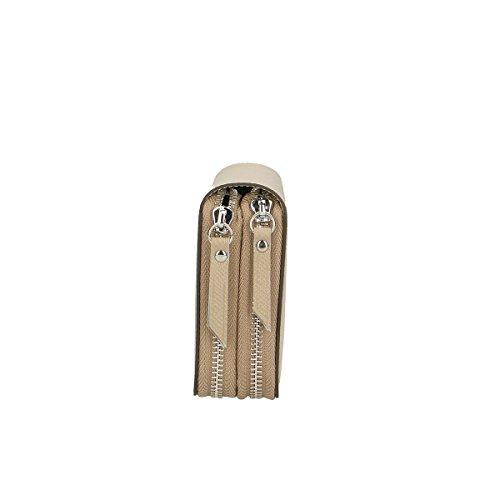 Chicca Borse Portafogli in pelle 21x11x3 100% Genuine Leather Fango