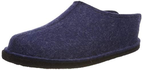 Haflinger Unisex-Erwachsene Flair Smily Pantoffeln, Blau (Jeans 72), 37 EU