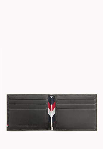 Tommy Hilfiger Selvedge Emboss Mini CC Wallet and Money Clip Black