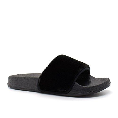 London Footwear ,  Damen hinten offen Schwarz