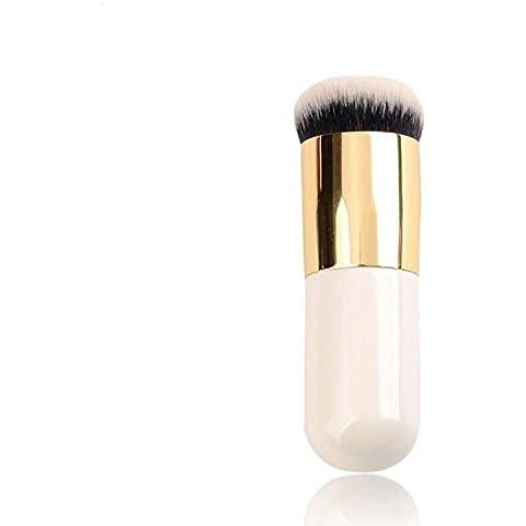 GAOMEI -Pennelli trucco pennello fondotinta con testa piatta non mangiano i pink cream BB pennello (Testa Piatta Spazzola)