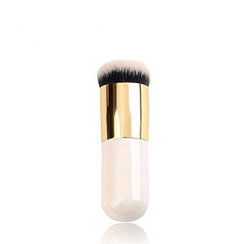 XUAN Pinceaux de maquillage ne mangent pas de brosse de Fondation avec tête plate rose crème BB pinceau blush brosse ronde