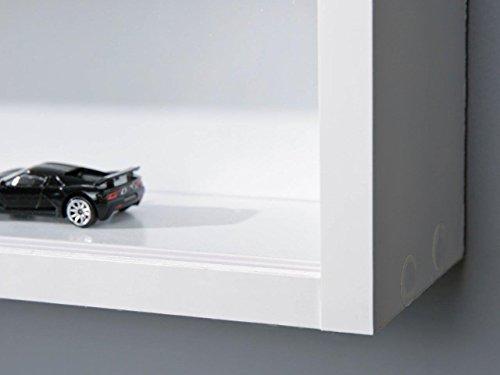 31NQyN2YFkL - Easy Home  Simply A20 -  Vitrina de  madera MDF y vidrio, Blanco