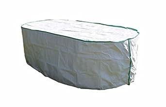 Housse de protection pour table de jardin ovale excl de tyvek avec sac de stockage for Housse table de jardin ovale