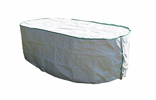 housse de protection pour table de jardin ovale excl. de Tyvek - avec sac de stockage - dimensions: 200cm x 110cm x 75cm