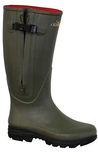 La Chasse | Neoprene-Gummistiefel mit Reißverschluss für Damen und Herren | absolut wasserdicht | Jagdgummistiefel Winter | Gummistiefel für Jäger | Neoprenestiefel gefüttert (43 EU)