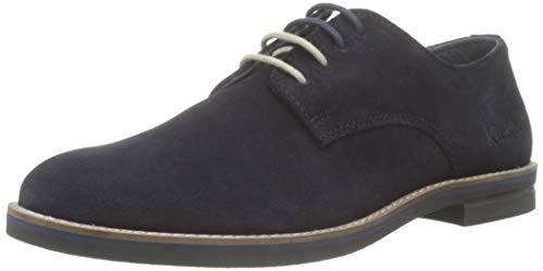 Kickers Eldan, Zapatos de Cordones Derby para Hombre, Azul Marine 10, 40 EU
