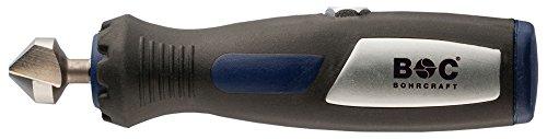 """Bohrcraft 18200312490 Hand-Entgrater mit 1/4"""" Bit-Kegelsenker 90 Grad 12, 4 mm, Quadropack"""