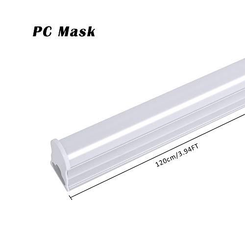 Centitenk LED Batten Slimline Profil, AC 85V-265V T5 20W Natur-Weiß 4000K -