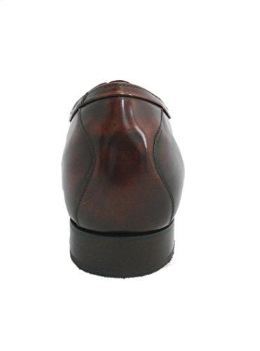 Zeraltos. Chaussures réhaussantes intérieur pour messieurs. Augmentation + 7 cm. Acajou florantic cuir, respirant, confortable. Acajou