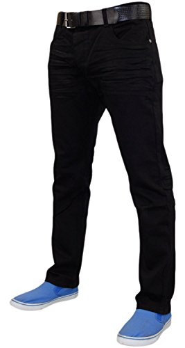Men Crosshatch Jenson Jeans Black Wash-32R