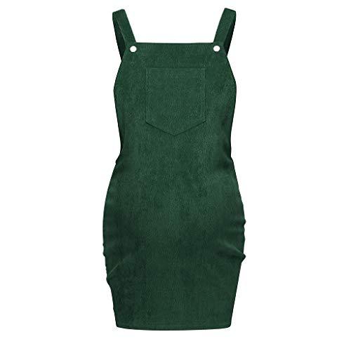 Solike Umstandskleid Festlich, Umstandsmode Damen Kleider Latz Rock Trägerrock Ärmellos Sommer Elegant Schwangerschaft Kleid für Schwangere