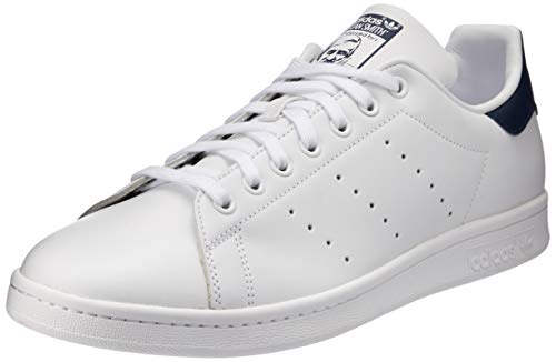 adidas Originals Unisex-Erwachsene Stan Smith Basketballschuhe, Running White/New Navy, 44 EU - Klassiker Adidas Schuhe