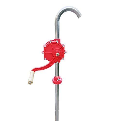 SqSYqz Pompa Manuale per Fusti A Tamburo Manuale Pompa Rotativa in Lega di Alluminio Pompa Olio Pompa Olio Pompa Olio Olio Motore Diesel,Argento,32#