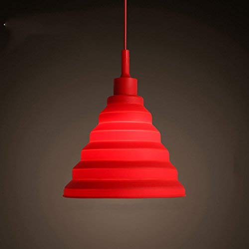 Giow Modernen Minimalistischen DREI Kreative Persönlichkeit Farbe Restaurant Lichter Kinderzimmer Fisch Linie Kronleuchter Kaffee Tee Lampen (Farbe: ROT) -