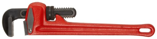 Martin PW10 Straight Iron Handle Heavy Duty Pipe Wrench, Size 10, 10 Overall Length, 1-1/2 Capacity by Martin