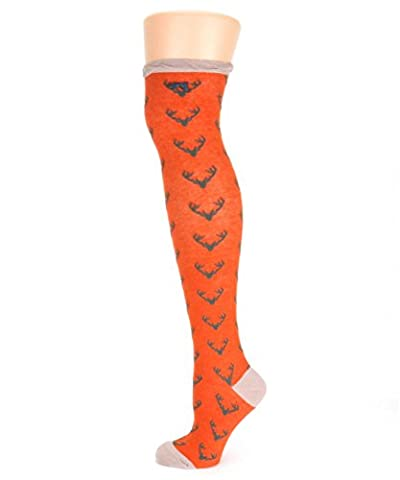 Ladies Long Stag Tangerine Socks from Powder