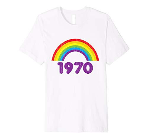1970 Rainbow T-shirt for Women. Sizes S to 3XL