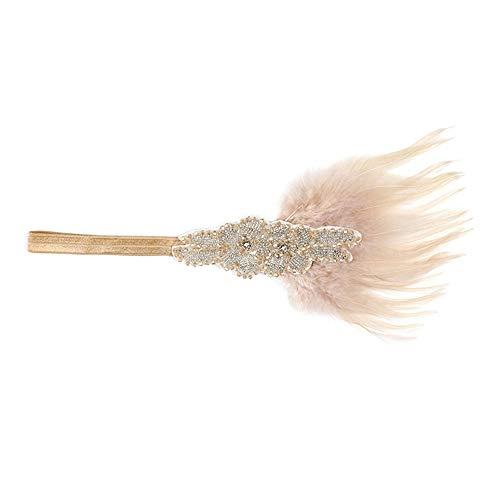 Scrolor Haarreife 1920er Jahre Headpiece Feather Flapper Stirnband Indian Feather Vintage Stirnband Kopfschmuck Bridal Dance Kopfschmuck Flapper Dance