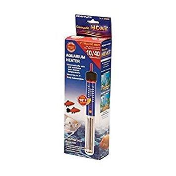 American Paws Pet Products Aquariumheizung mit Thermostat, 50 W, voll tauchbar, Süß- und Salzwasser, 10 l -