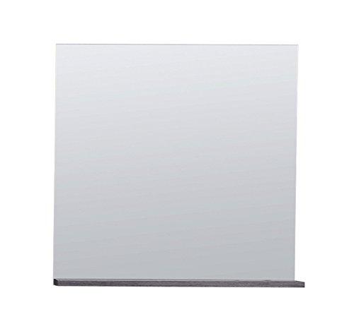 trendteam Badezimmer Wandspiegel California, 60 x 60 x 13 cm in Rauchsilber Dekor mit Ablagefläche California Schrank Zubehör